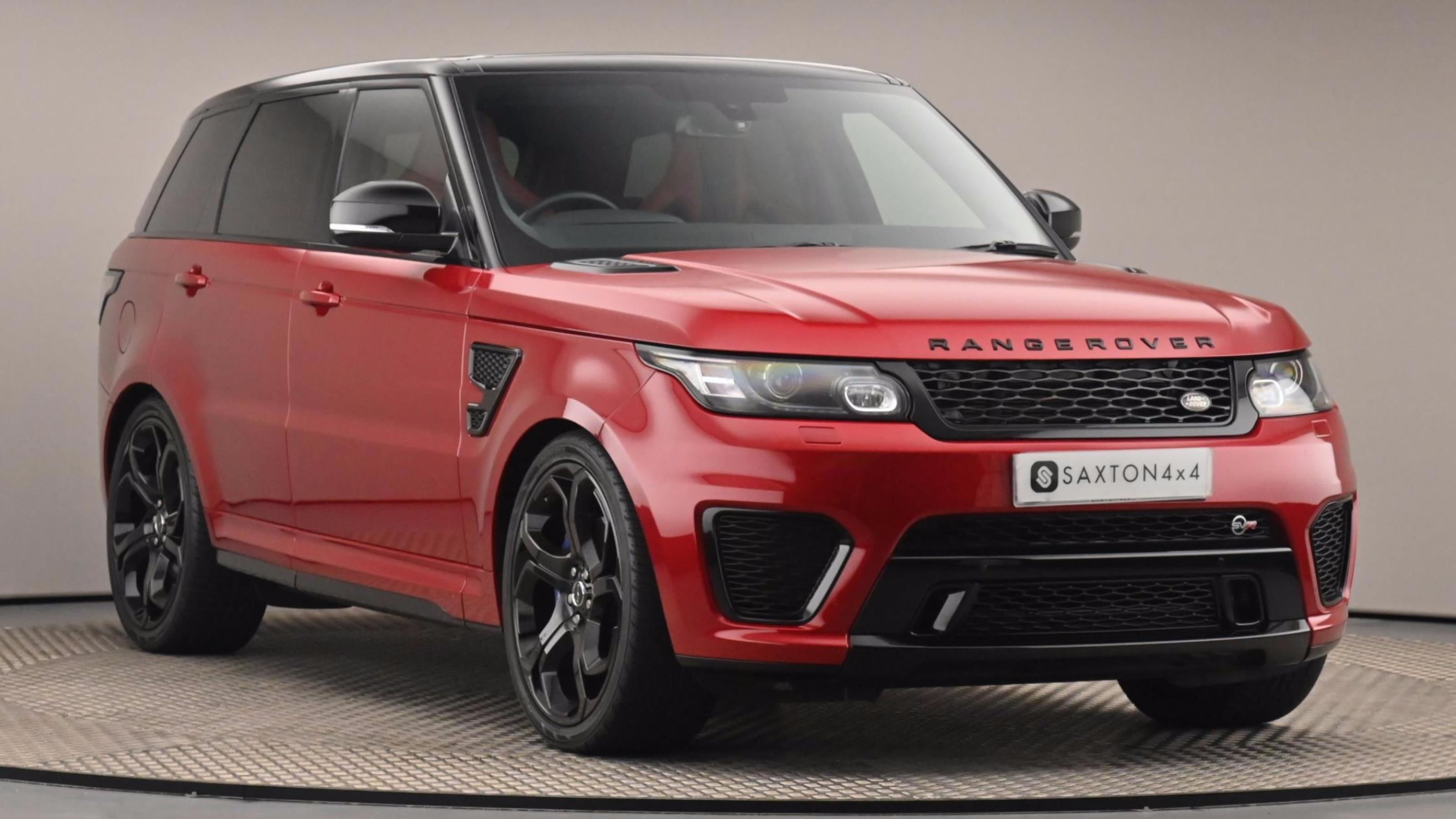 Used 2017 Land Rover RANGE ROVER SPORT 5.0 V8 S/C SVR 5dr Auto Red at Saxton4x4