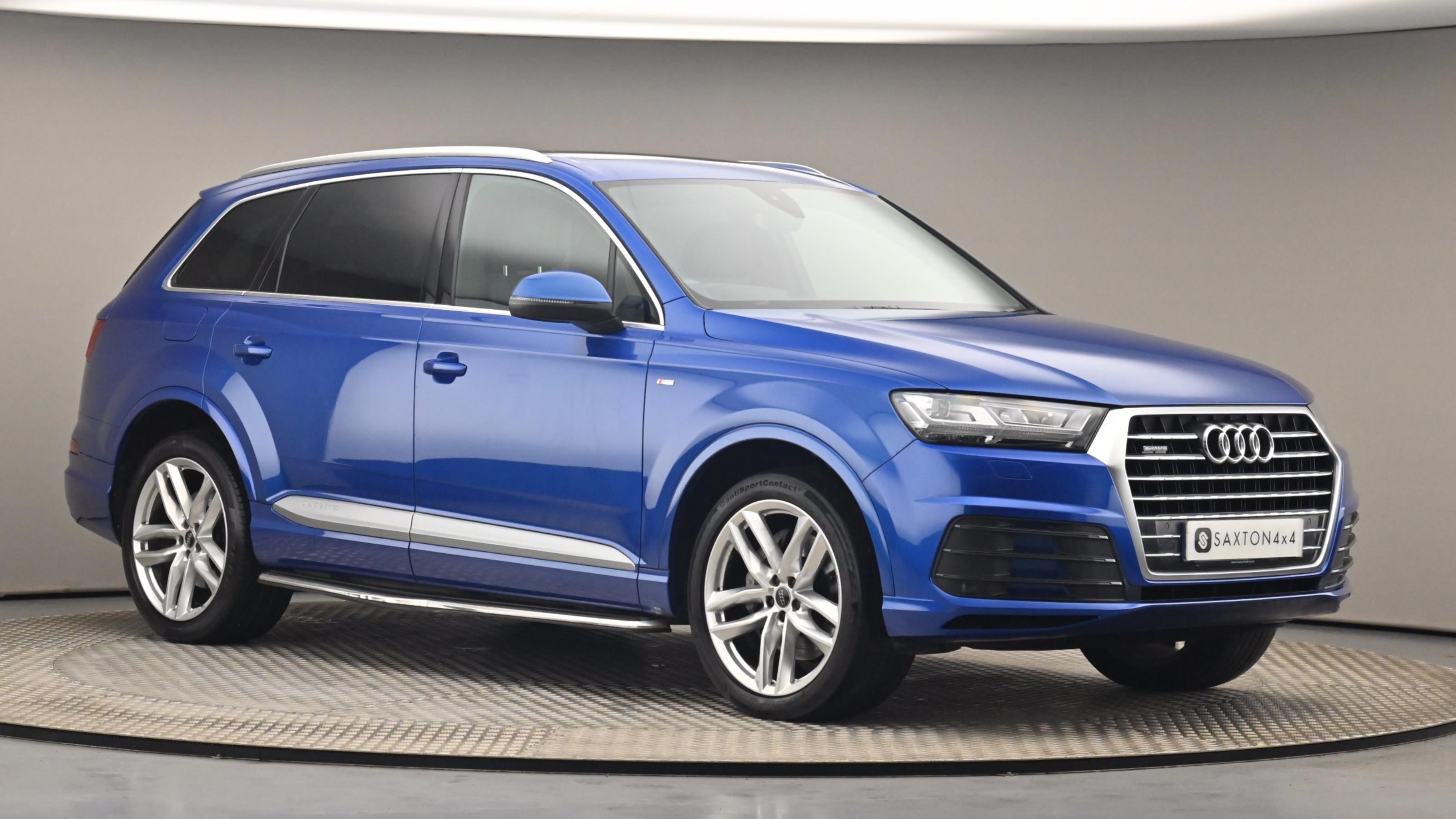 Used 2018 Audi Q7 3.0 TDI Quattro S Line 5dr Tip Auto BLUE at Saxton4x4