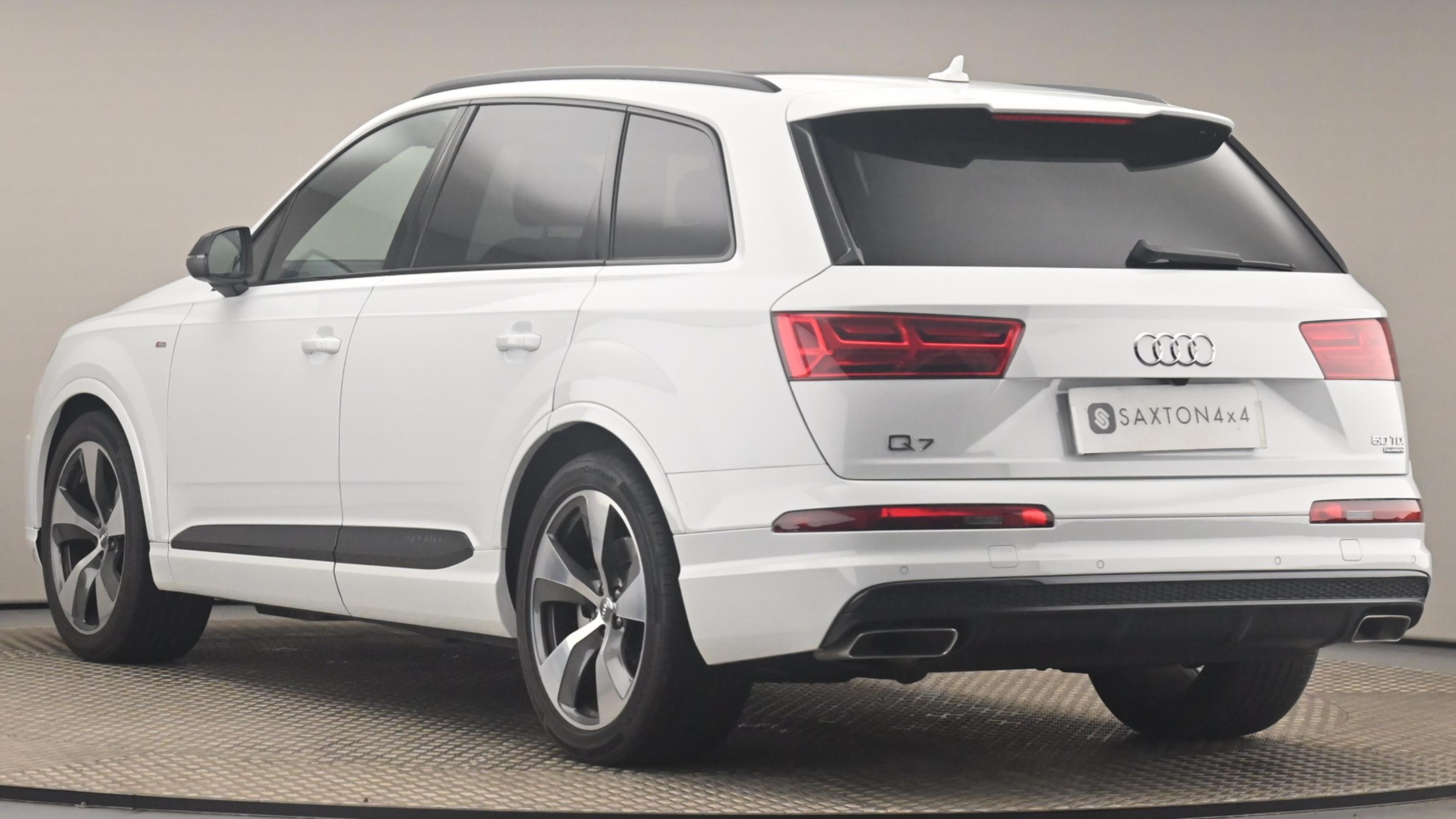 Used ~ Audi Q7 S Line Black Ed Tdi Qu Glacier White Metallic at Saxton4x4