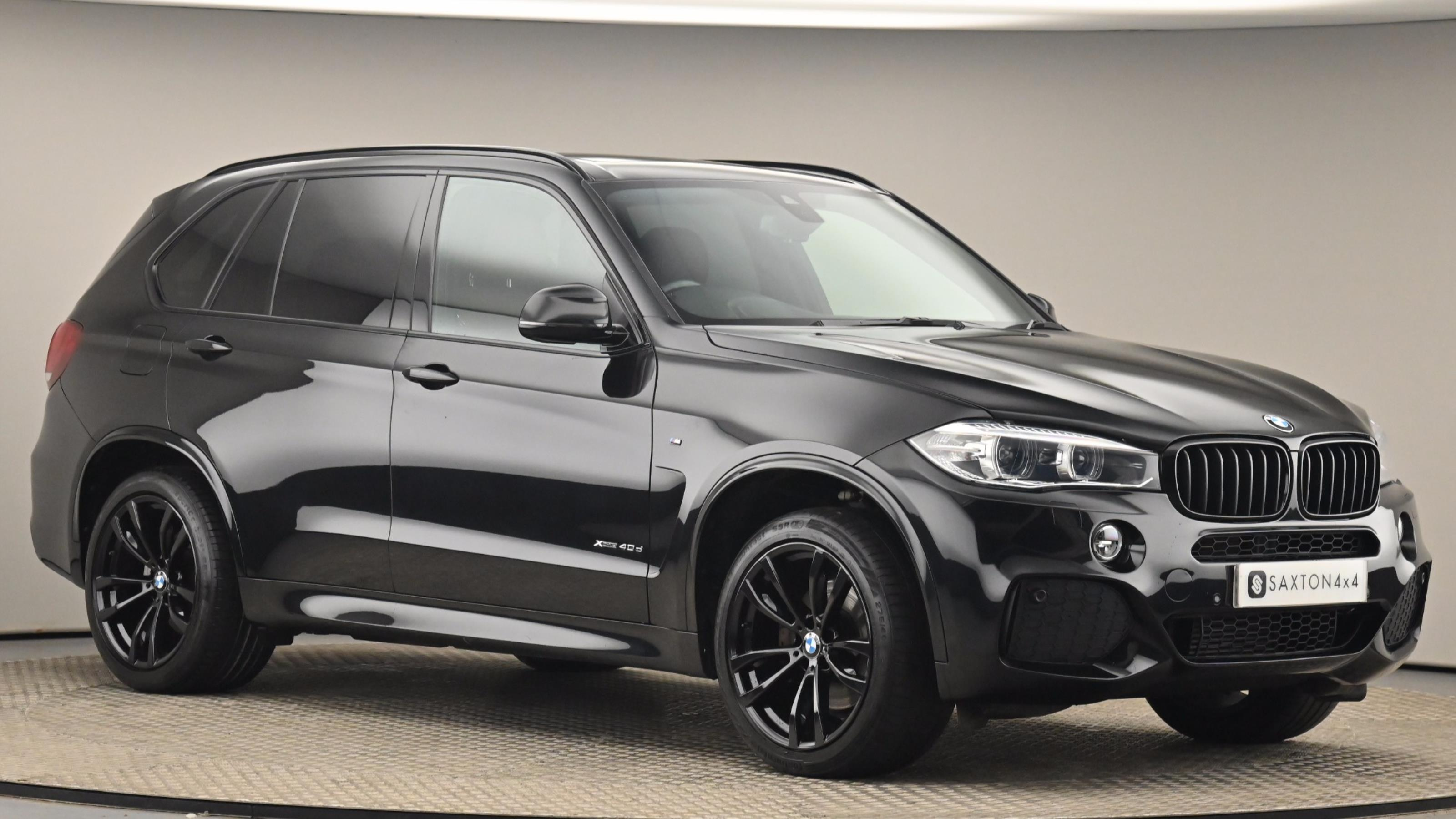 Used 2017 BMW X5 xDrive40d M Sport 5dr Auto [7 Seat] Black at Saxton4x4