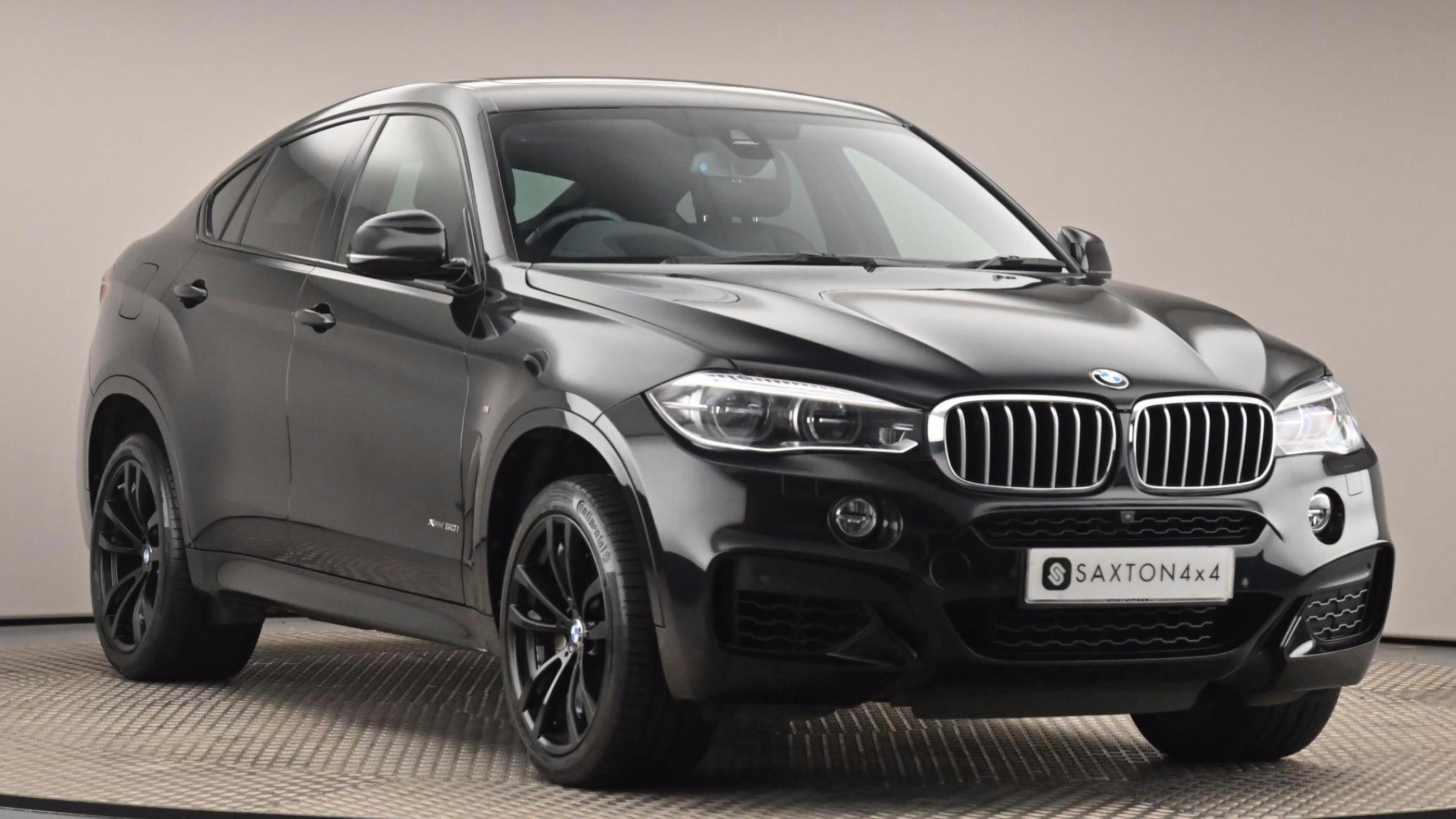 Used 2017 BMW X6 xDrive50i M Sport 5dr Step Auto BLACK at Saxton4x4
