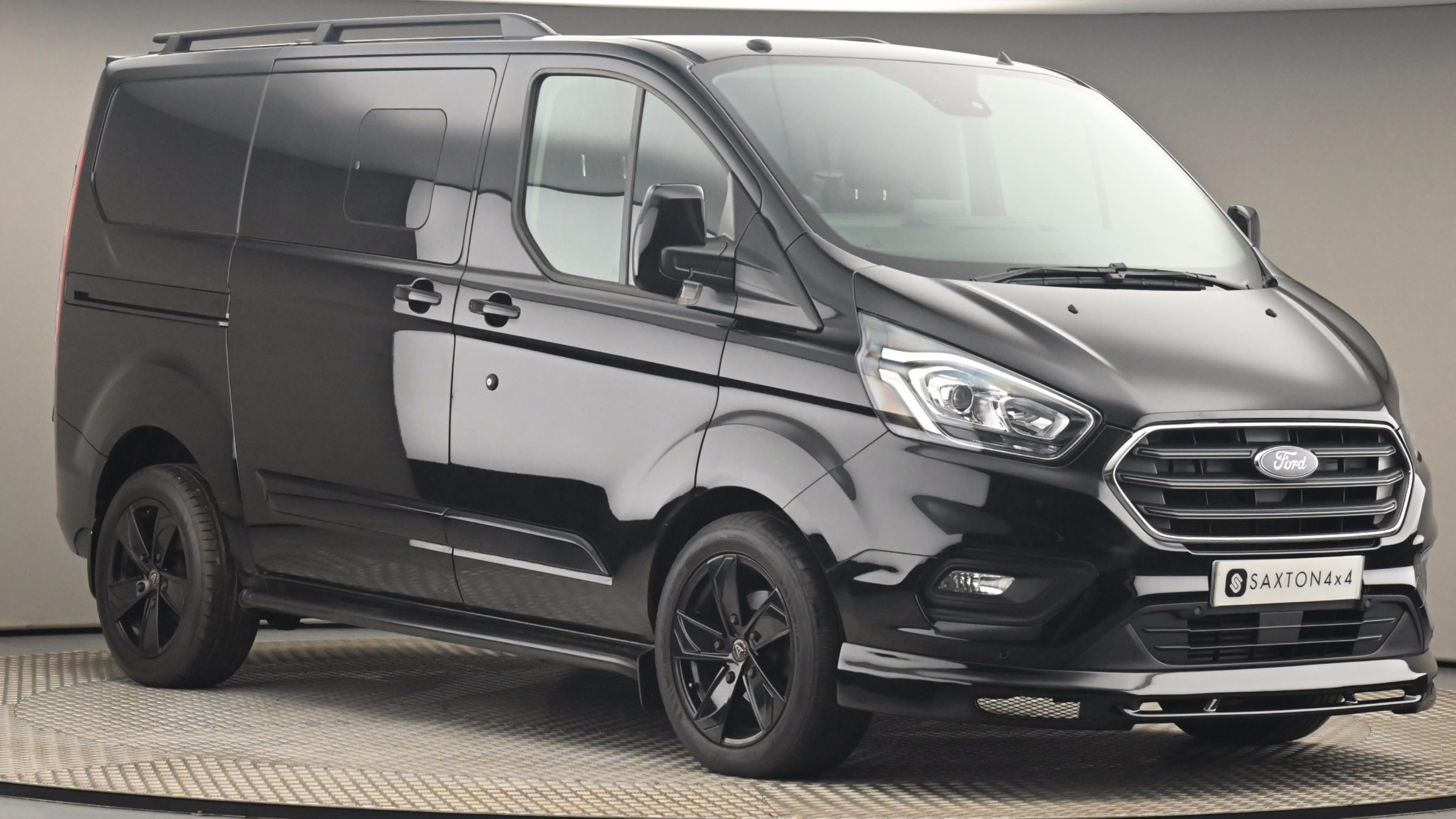 Used 2018 FORD TRANSIT CUSTOM  320 L1  FWD 2.0 EcoBlue 130ps Low Roof D/Cab Limited Van BLACK at Saxton4x4