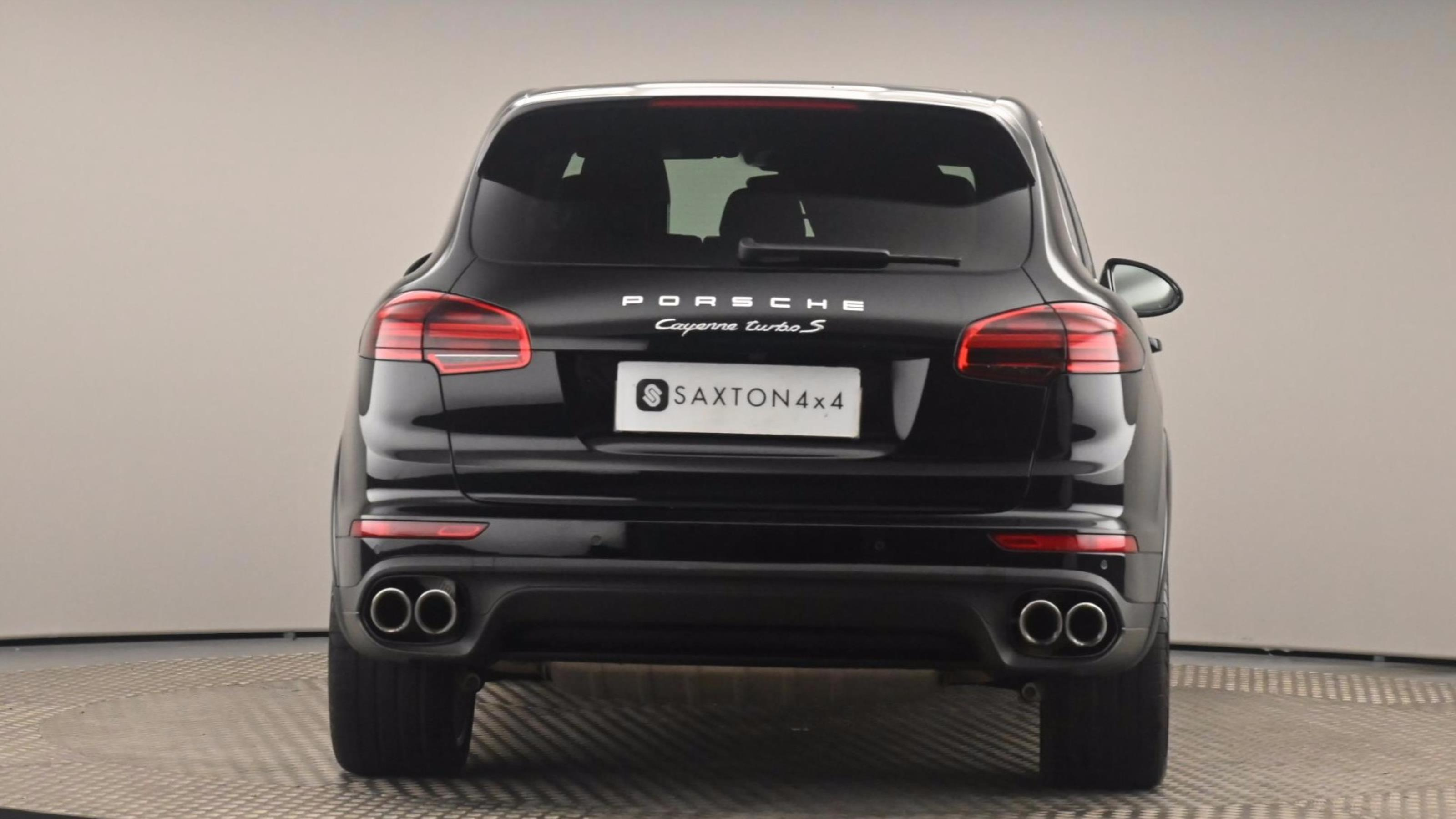 Used 16 Porsche CAYENNE Turbo S 5dr Tiptronic S BLACK at Saxton4x4