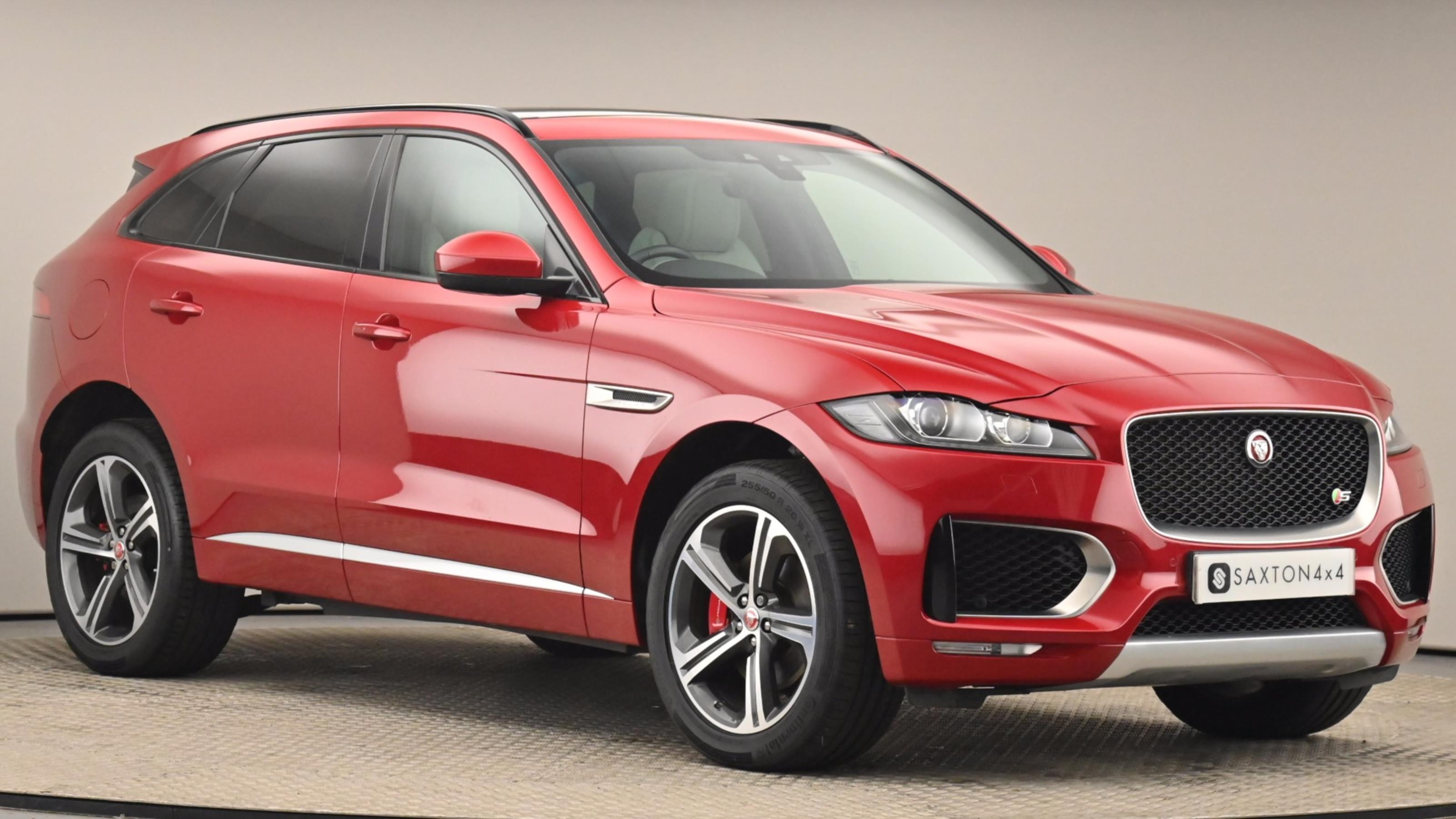 Used 2018 Jaguar F-PACE 3.0d V6 S 5dr Auto AWD RED at Saxton4x4