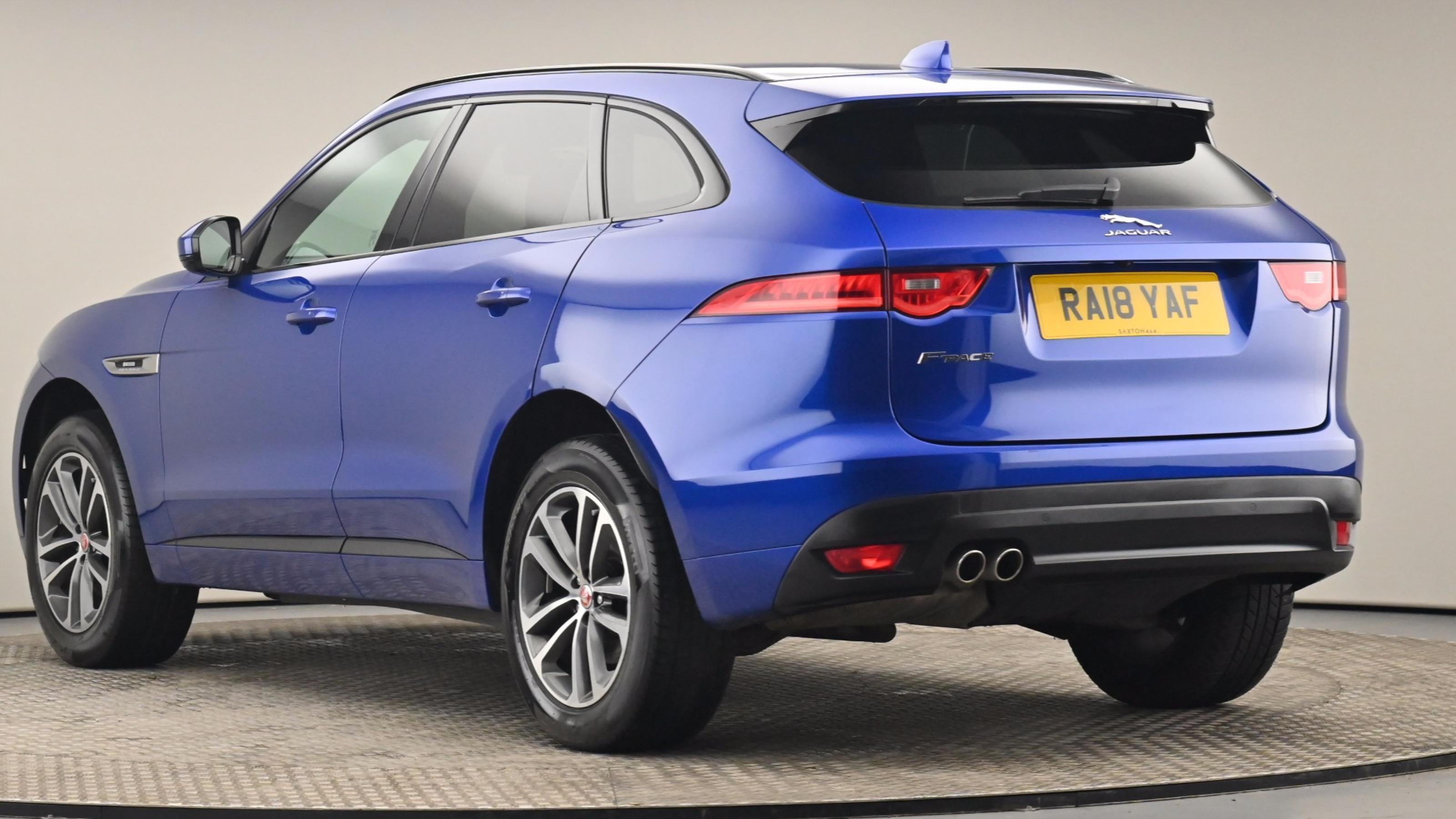 Used 2018 Jaguar F-PACE 2.0d R-Sport 5dr Auto AWD BLUE at Saxton4x4