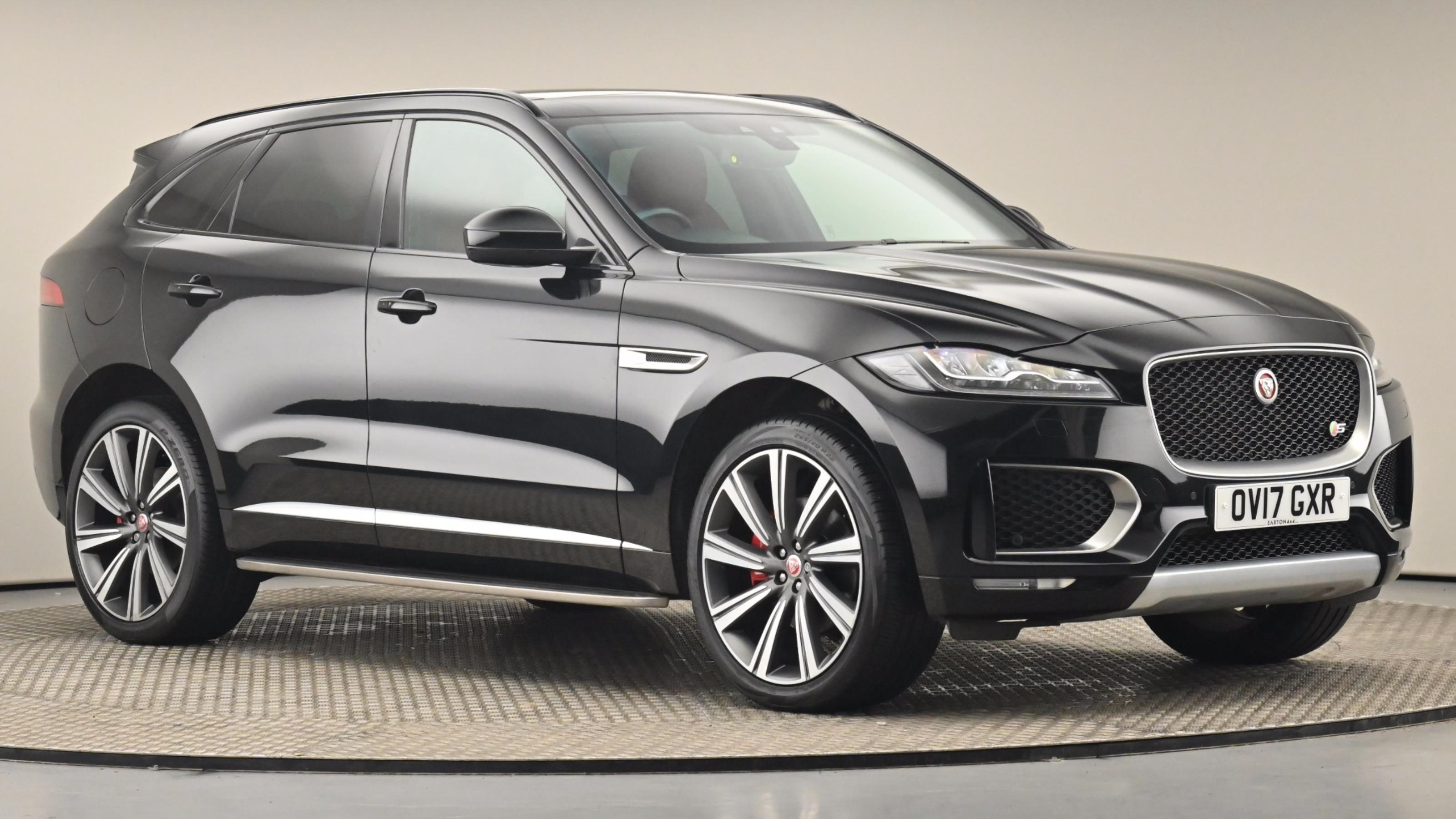 Used 2017 Jaguar F-PACE 3.0 Supercharged V6 S 5dr Auto AWD BLACK at Saxton4x4