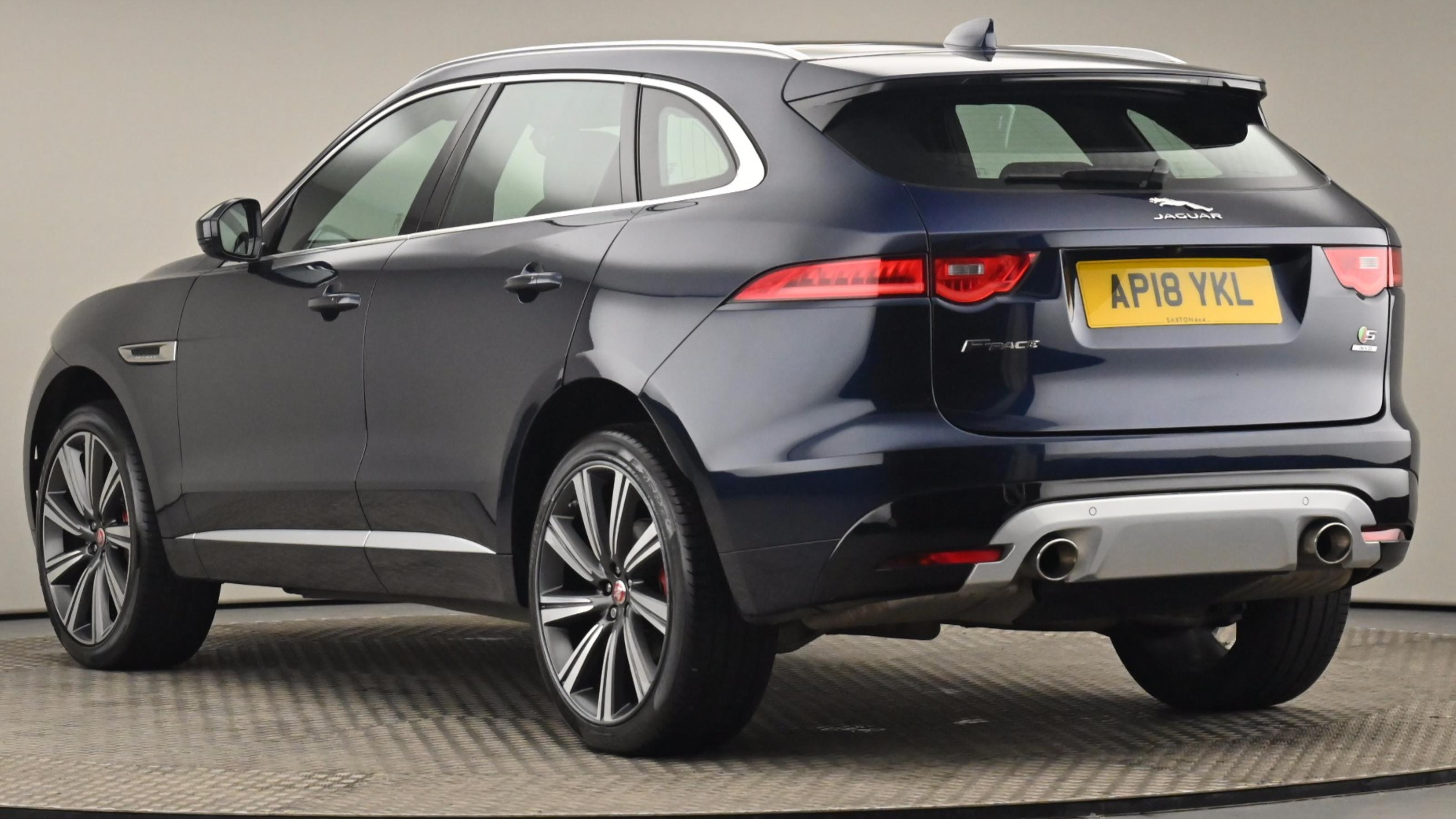 Used 2018 Jaguar F-PACE 3.0 Supercharged V6 S 5dr Auto AWD BLUE at Saxton4x4