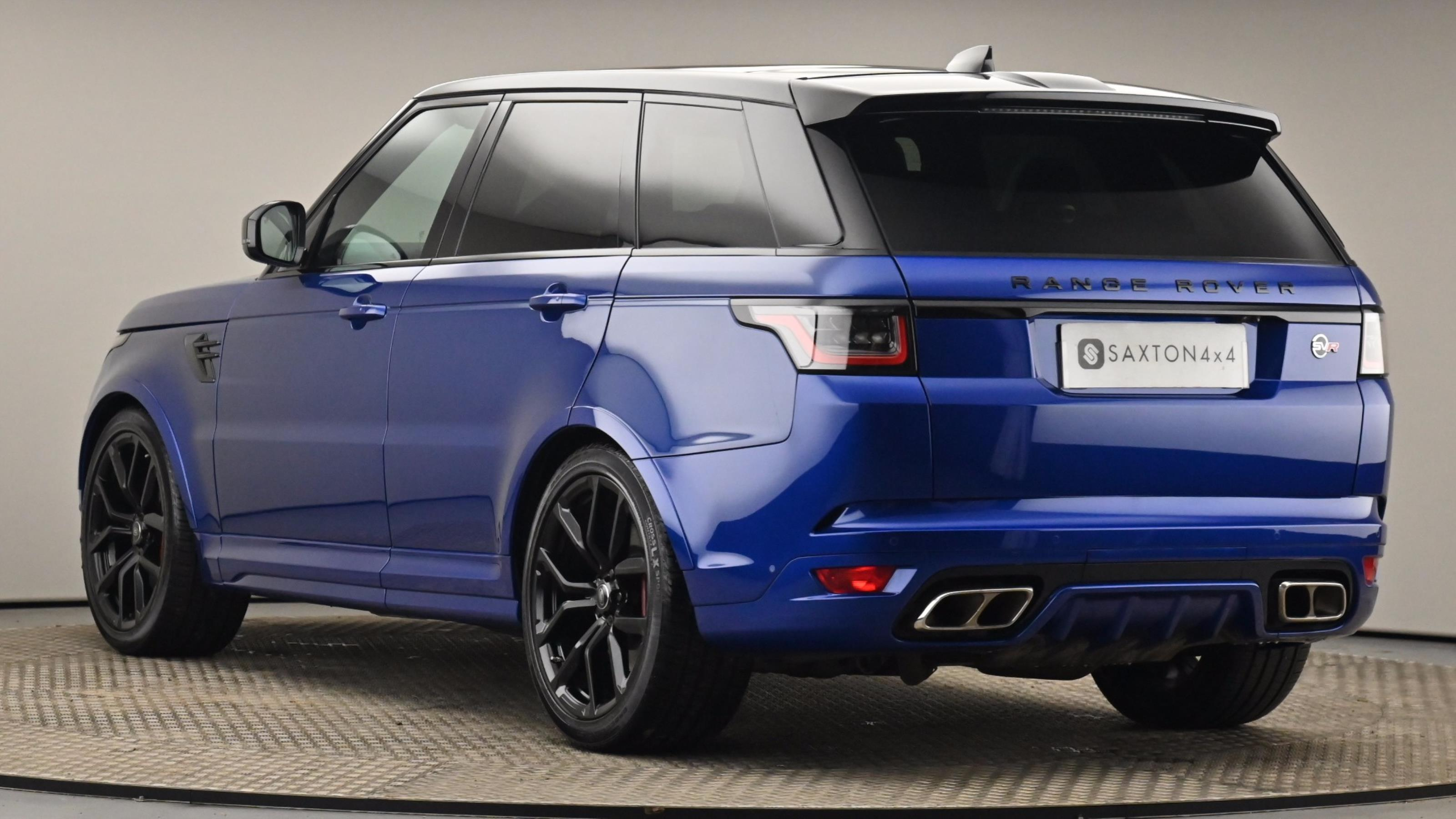 Used 2018 Land Rover RANGE ROVER SPORT 5.0 V8 S/C 575 SVR 5dr Auto Blue at Saxton4x4