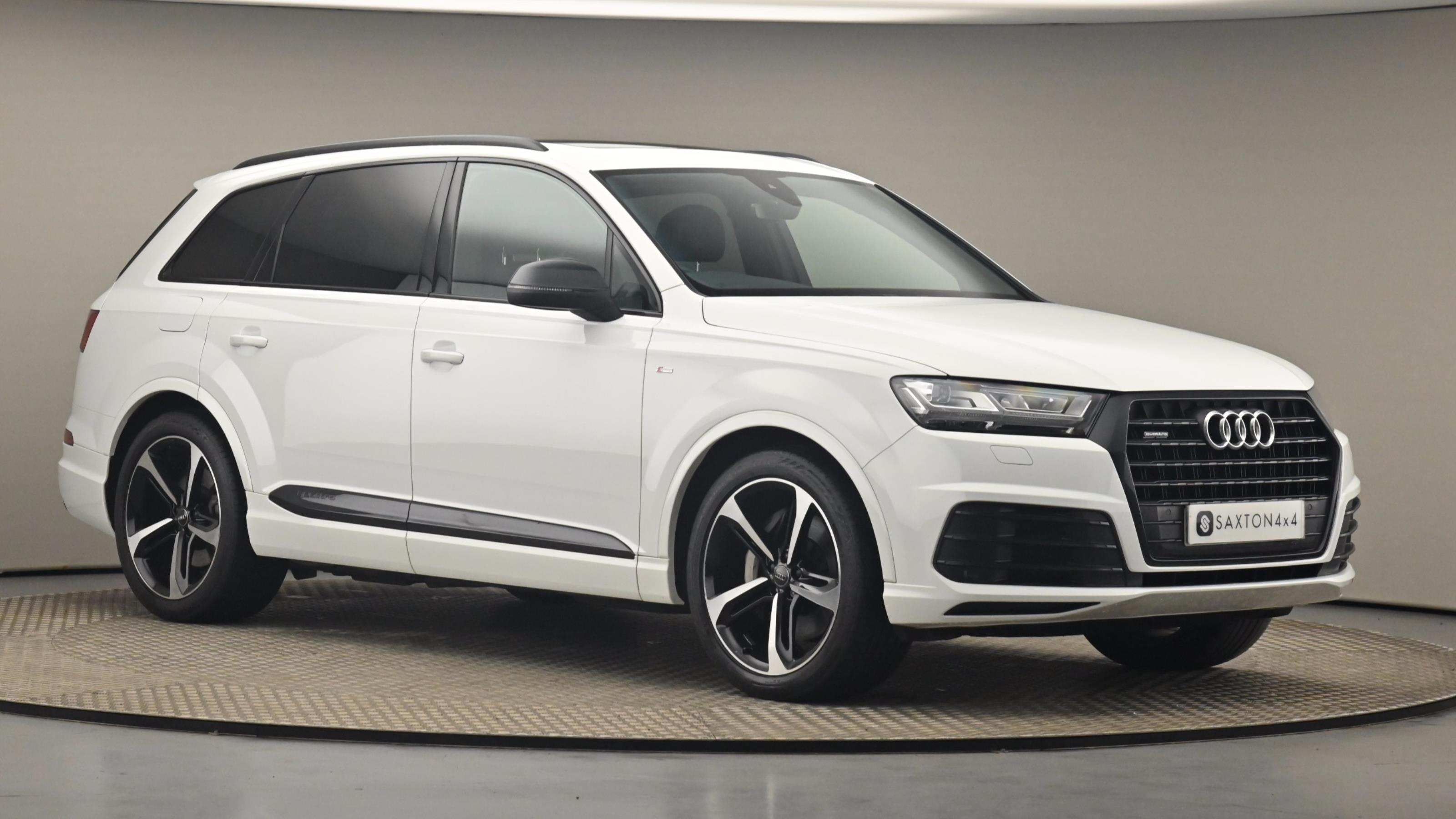 Used 2019 Audi Q7 50 TDI Quattro Black Edition 5dr Tiptronic WHITE at Saxton4x4