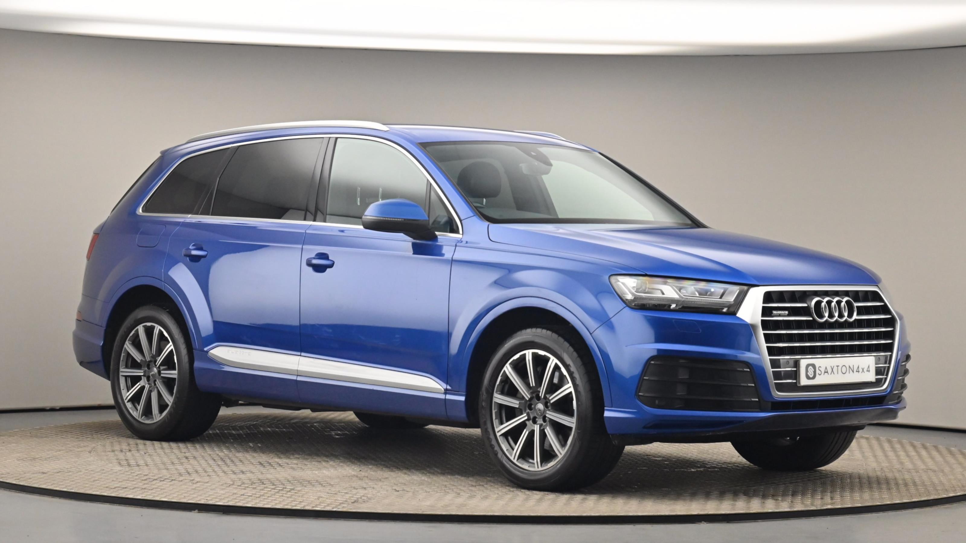 Used 2016 Audi Q7 3.0 TDI 218 Quattro S Line 5dr Tip Auto BLUE at Saxton4x4