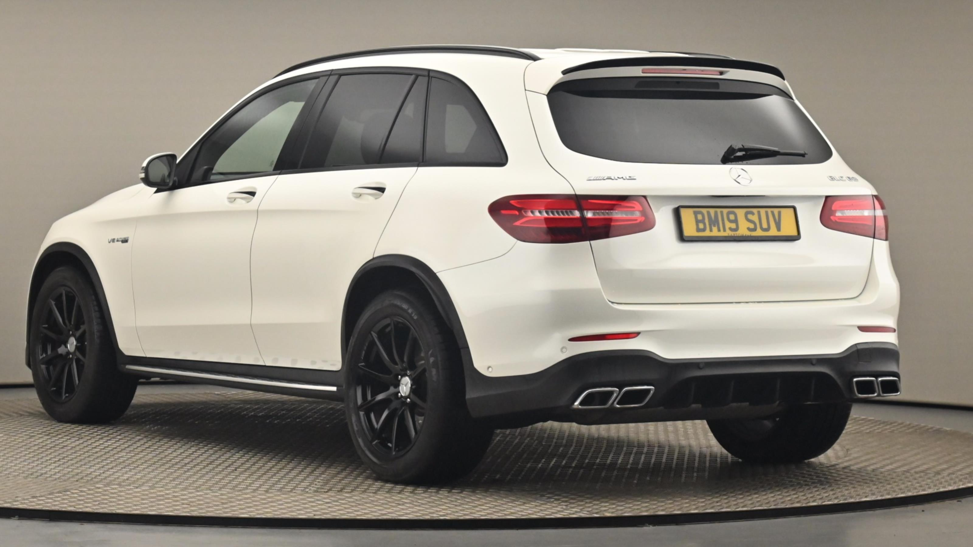 Used 2019 Mercedes-Benz GLC COUPE GLC 63 4Matic Premium 5dr 9G-Tronic WHITE at Saxton4x4
